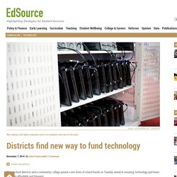 Districts find new way to fund technology