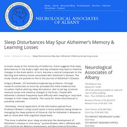 Sleep Disturbances May Spur Alzheimer's Memory & Learning Losses