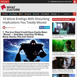 10 Movie Endings With Disturbing Implications You Totally Missed » Page 11 of 11