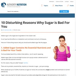 10 Disturbing Reasons Why Sugar is Bad For You