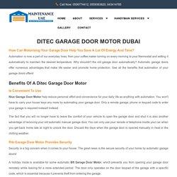 Ditec Garage Door Motor Dubai