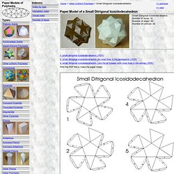 Paper Model of a Small Ditrigonal Icosidodecahedron