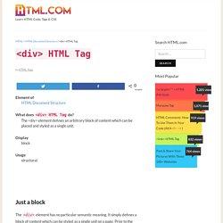 <div> HTML Tag »