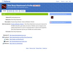 Dive Shop Kissimmee's Profile - Hatena
