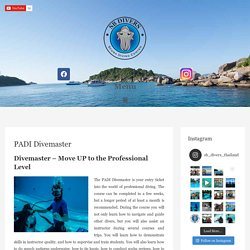 PADI Divemaster Course - Professional Diving with SB Divers