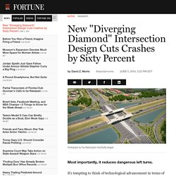 "New ""Diverging Diamond"" Intersection Design Cuts Crashes by Sixty Percent"