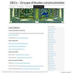 GECo - Groupe d'études constructivistes