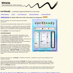 DiVerSe Products: vocSteady