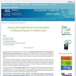 Diversidad Cultural e Interculturalidad en Educación Superior