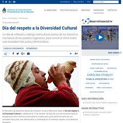 Día de la Diversidad Cultural Americana - Ministerio de Desarrollo Social
