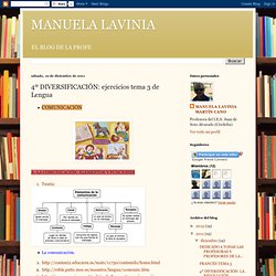 MANUELA LAVINIA: 4º DIVERSIFICACIÓN: ejercicios tema 3 de Lengua