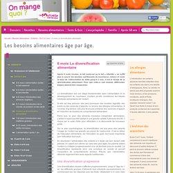 6 mois La diversification alimentaire - On mange quoi ? - La Mutuelle Générale