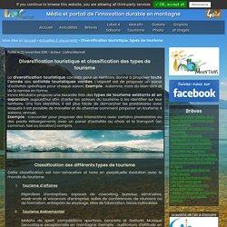 Diversification touristique et classification types de tourisme