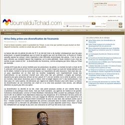 Idriss Deby prône une diversification de l'économie