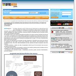 Les grands axes de diversification des revenus des sites éditoriaux, étudiés par Xerfi Precepta