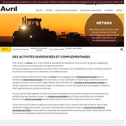 Des activités diversifiées et complémentaires