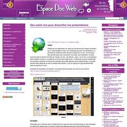 Des outils tice pour diversifier les présentations - Espace Doc Web
