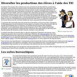 Diversifier les productions des élèves à l'aide des TIC