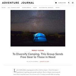 To Diversify Camping, This Group Sends Free Gear to Those in Need