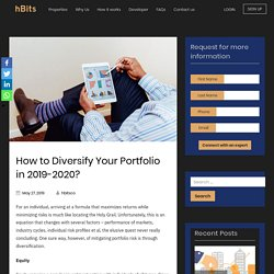 How to Diversify Your Portfolio in 2019-2020?
