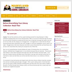 Before Diversifying Your Library Collection- Read This!