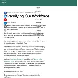 Diversifying Our Workforce
