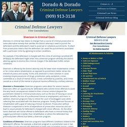 Diversion in Criminal Court