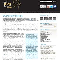 Diversionary Feeding