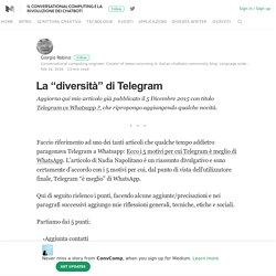 "La ""diversità"" di Telegram – ConvComp – Medium"