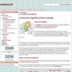 3.1. La diversitat lingüística - DIVERSICAT