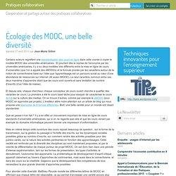 Écologie des MOOC, une belle diversité