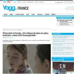Diversité à l'école: «Un climat de plus en plus malsain» selon SOS homophobie