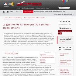 La gestion de la diversité au sein des organisations