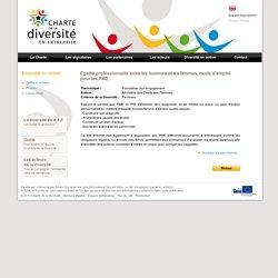 Charte de la diversité - Egalité professionnelle entre les hommes et les femmes, mode d'emploi pour les PME