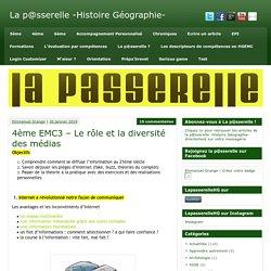 4ème EMC3 - Le rôle et la diversité des médias - La p@sserelle -Histoire Géographie-