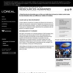 Les diversités en Ressources Humaines-L'Oréal Groupe