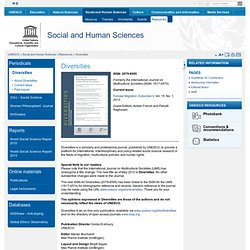 Social and Human Sciences - Unesco