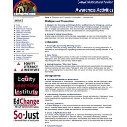 Multicultural, Anti-bias, & Diversity Activities & Exercises