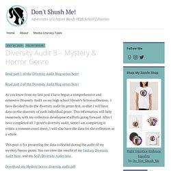 Diversity Audit 3 – Mystery & Horror Genre