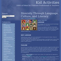 Diversity/Multi Cultural with Language-Literacy