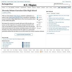 Diversity Debate Engulfs Hunter High in Manhattan