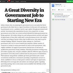 A Great Diversity in Government Job to Starting New Era