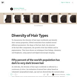 Diversity of Hair Types