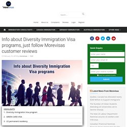 Info about Diversity Immigration Visa programs