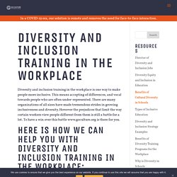 Diversity and Inclusion Training in the Workplace - Go Culture International
