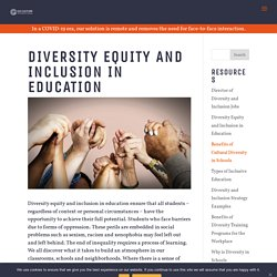 Diversity Equity and Inclusion in Education - Go Culture International