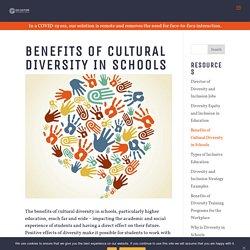 Benefits of Cultural Diversity in Schools - Go Culture International