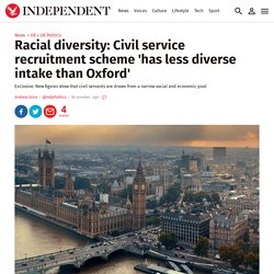 Racial diversity: Civil service recruitment scheme 'has less diverse intake than Oxford'