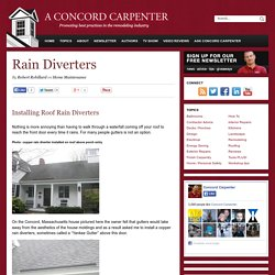 Rain Diverters - A Concord Carpenter