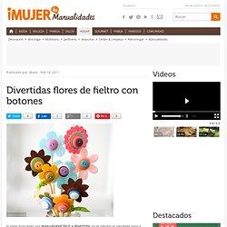 Divertidas flores de fieltro con botones